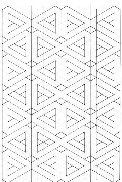 Paper Piecing Pattern on Triangle Graph Paper - site links to another where you can generate your own graph paper to work on