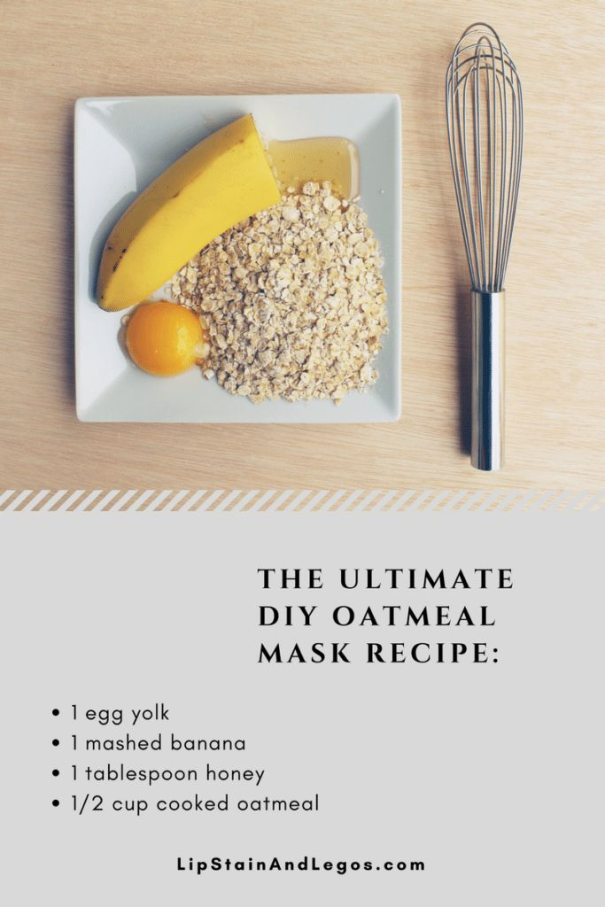 The Best Oatmeal Recipe for Dry Skin. Free Recipe Card Printable