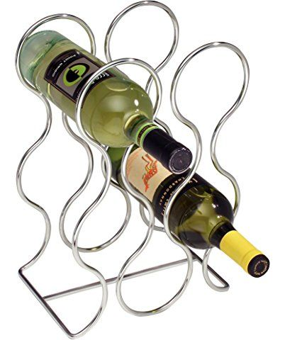 InterDesign Classico Round Wine Rack, Chrome