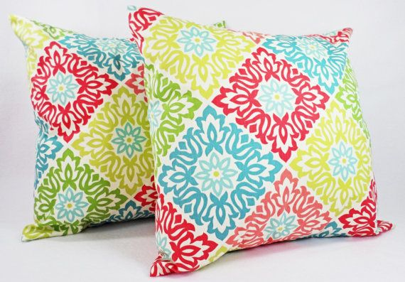 Couch Pillow Covers  Two Pillow Covers in by CastawayCoveDecor