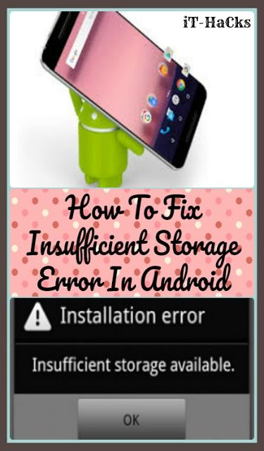 some advanced solutions & hacks to resolve insufficient storage error on your Android phone and tablets...#android . #smartphones #hacks #stepbystep #howto
