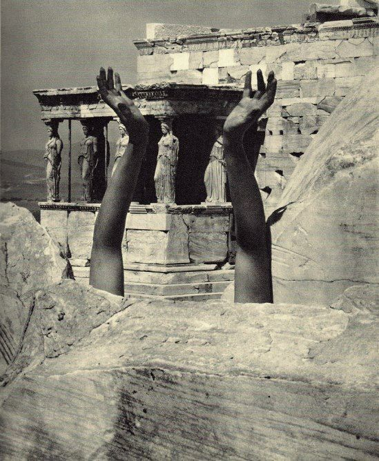 Edward Steichen- Therese Duncan's reaching arms-The Parthenon, 1921