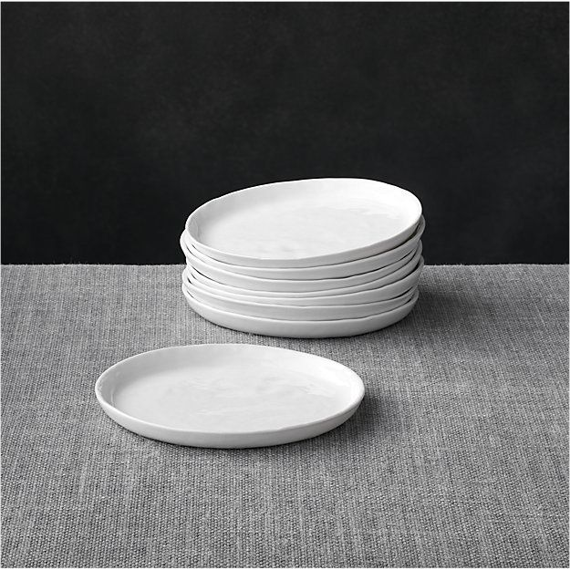Set of 8 Mercer Appetizer Plates | Crate and Barrel