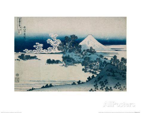 Shichiri Beach in Sagami Province, Katsushika Hokusai, Japan, Edo Period 1830-1833 reproduction procédé giclée par Katsushika Hokusai sur AllPosters.fr