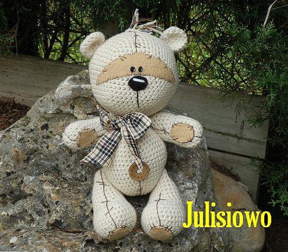 Crochet bear. Teddy bear like a  Fizzy Moon. Forever