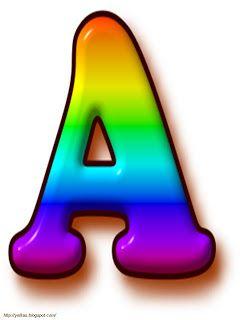 Oh my Alfabetos!: Alfabeto arco iris.