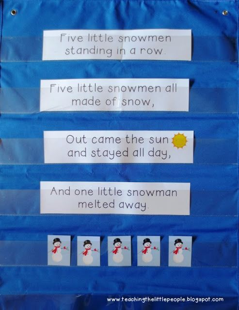 Five Little Snowmen Interactive Pocket Chart