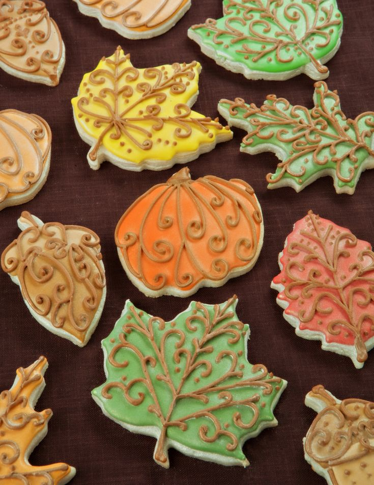 Supplies used: elm leaf cookie cutter maple leaf cookie cutter oak leaf cookie…
