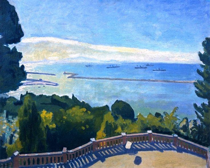 The Terrace at l'Estaque Albert Marquet - 1918