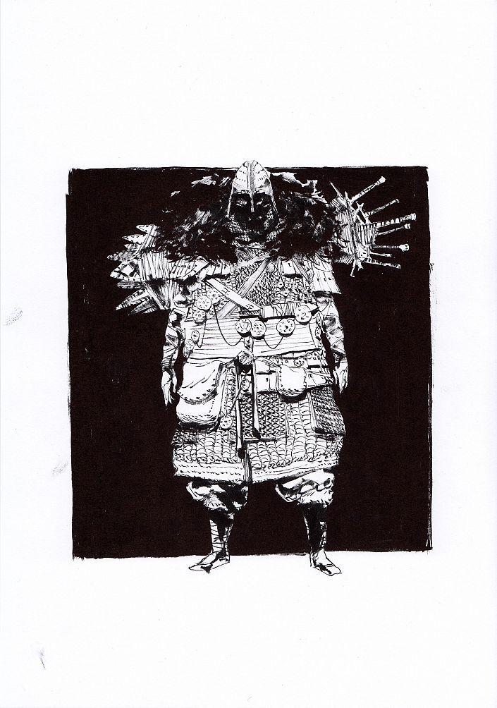 Daniel P. Dwyer: Dubioser Händler. Tusche auf Papier #Fantasy Tusche auf Papier  #comic #Charakterdesign #Japan #martialart #fiction #Kostüm #costume #Tusche #dealer  #Zeichnung #danieldwyer #startyourart www.startyourart.de