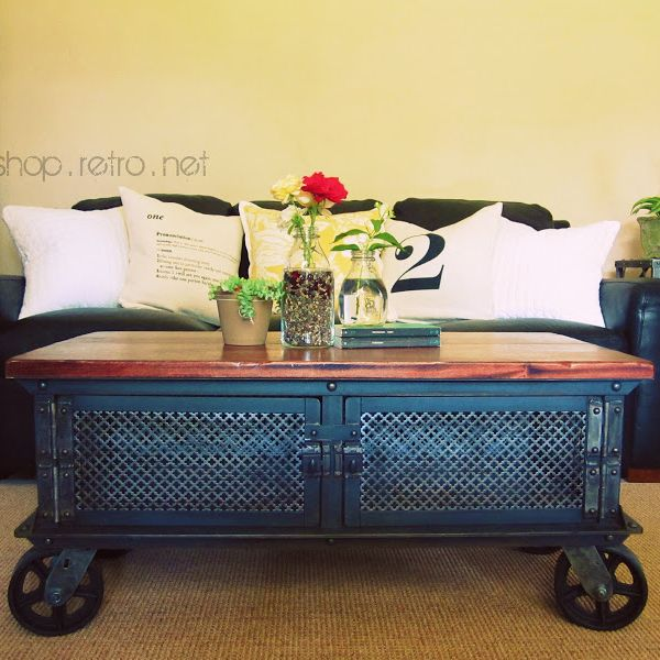 Kaplan Global Trunk Coffee Table Reclaimed Whitewash Large: Make Over Images On Pinterest