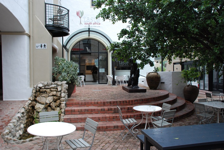 The view leading to the tasting room, fantastic patio to enjoy some brilliant South African wine