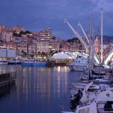 The gorgeous Old Port, Porto Antico, the oldest part of the Genoa's harbor. #day #tours