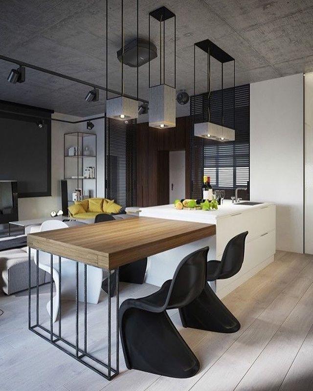 regram @i.designcriativo Inspiração de cozinha. #idesigncriativo #kitchen #cozinha #interiores #designinteriores #papodearquiteto #design