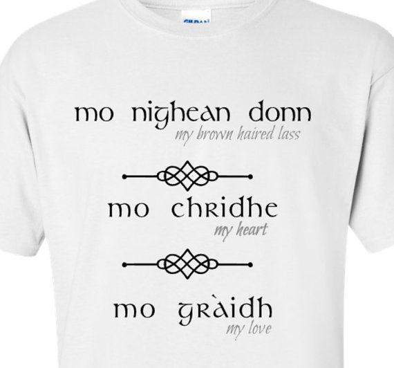Outlander Inspired  mo nighean donn  T-Shirt by BradysBits on Etsy