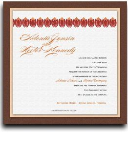 25 Square Wedding Invitations - Orange Tulip Dance by WeddingPaperMasters.com. $168.75. Now you can have it all! We have created, at incredible prices & outstanding quality, more than 300 gorgeous collections consisting of over 6000 beautiful pieces that are perfectly coordinated together to capture your vision without compromise. No more mixing and matching or having to compromise your look. We can provide you with one piece or an entire collection in a one stop shopping experie...