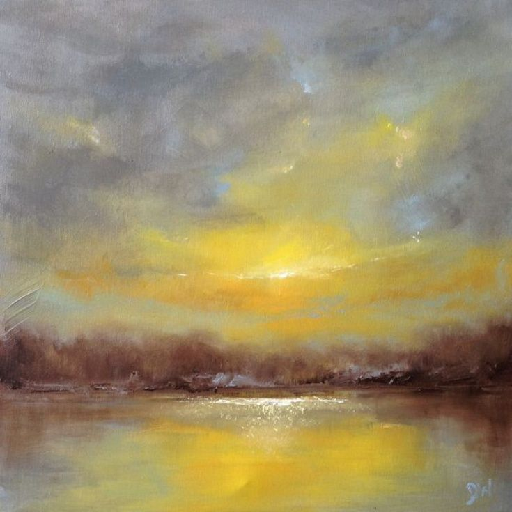 ARTFINDER: Beyond III by Dan Wellington - No.3 of 3 in the 'Beyond' trio of original oil paintings. Atmospheric, semi abstract seascape. On deep canvas, ready to hang.