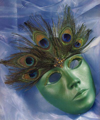 Masti de carnaval: Ochi de paun
