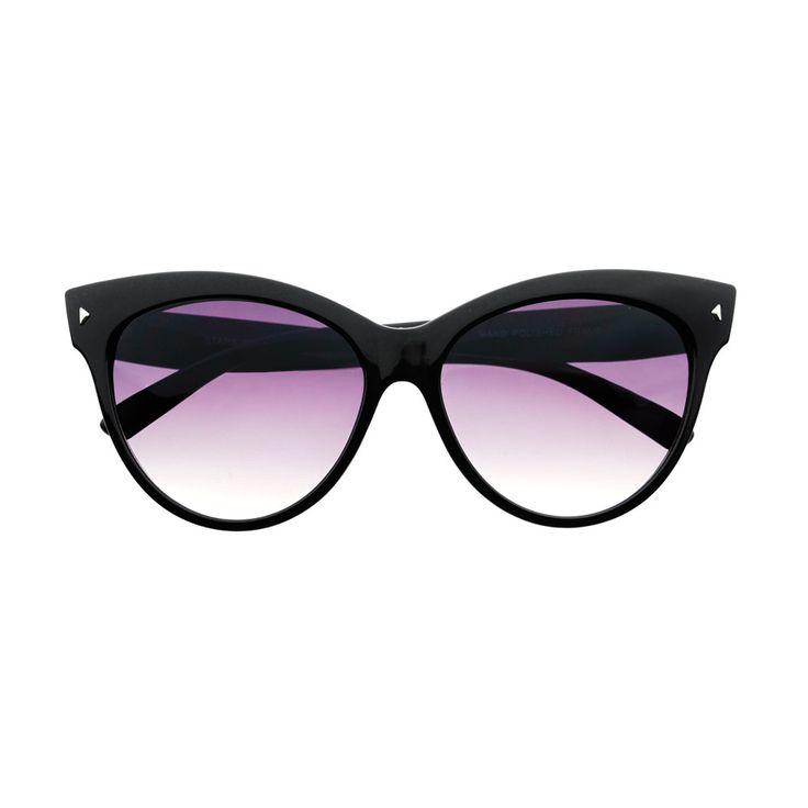 Large Retro Fashion Tip Pointed Cat Eye Sunglasses Shades C14