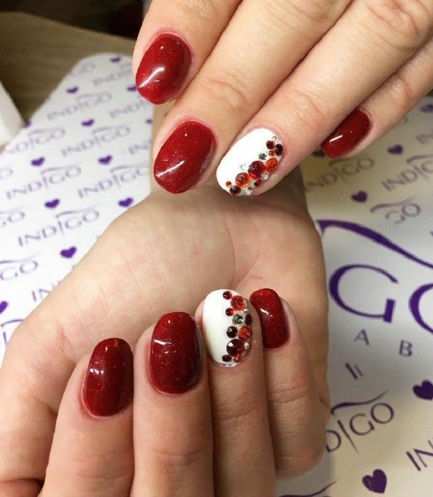 Best 25 white nail art ideas on pinterest prom nails gold tip 18 red and white nail art designs to try on valentines day prinsesfo Images