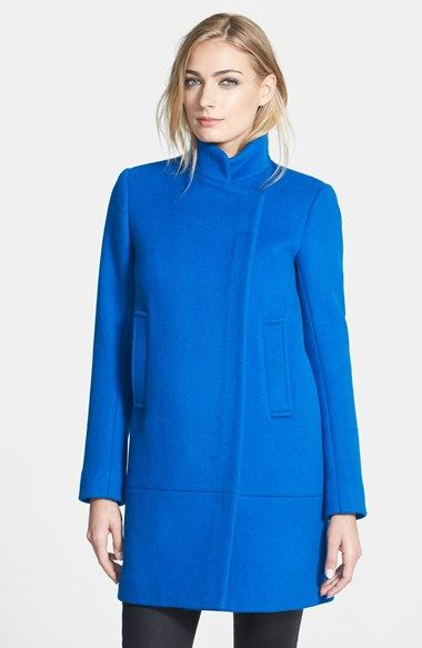DVF asymetrical coat: