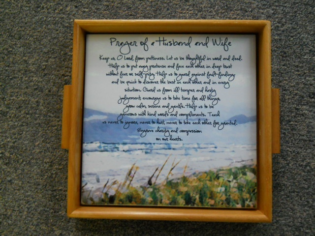 Prayer of a Husband & Wife - words to live by. $28.00 -> http://www.mcssl.com/store/cherrysdelightllc/ceramic-tile/phw