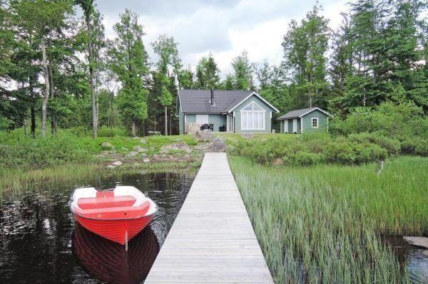 Ferienhaus in Schwedne mit Steg und Boot