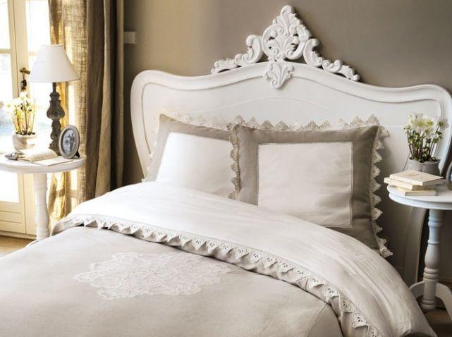 tete de lit bois blanc beautiful bedrooms pinterest. Black Bedroom Furniture Sets. Home Design Ideas