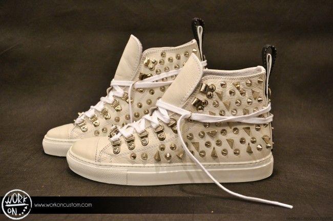 Work_On leather shoes - #leather #shoes #custom #studs #sneakers #workon #fashion #handmade #madeinitaly - www.workoncustom.com - mod. Giza