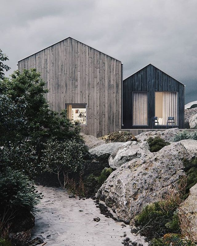 Modern Black House In 2020 Facade House Norway House House Exterior
