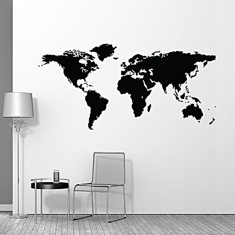 37 best map graphics for wall and floor images on pinterest world map wall decal gumiabroncs Image collections
