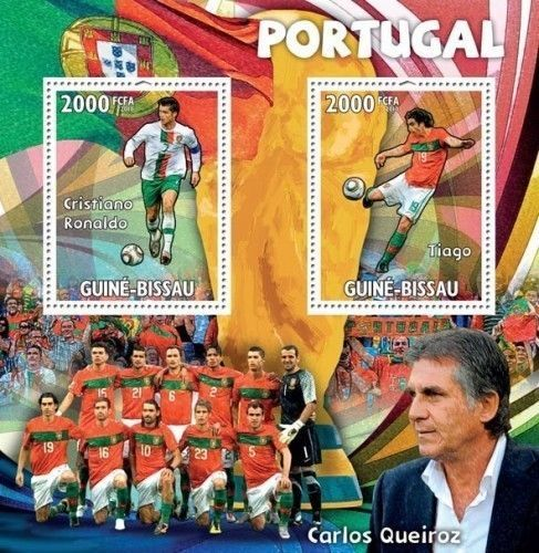 GUINEA BISSAU FIFA WORLD CUP PORTUGAL FOOTBALL TEAM S/S GB10317  | eBay