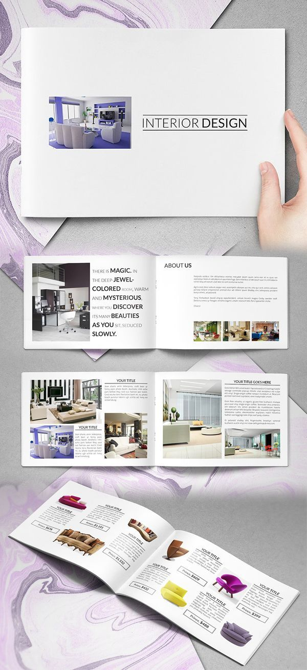 Simple Interior Catalog Brochure Template Business Brochure