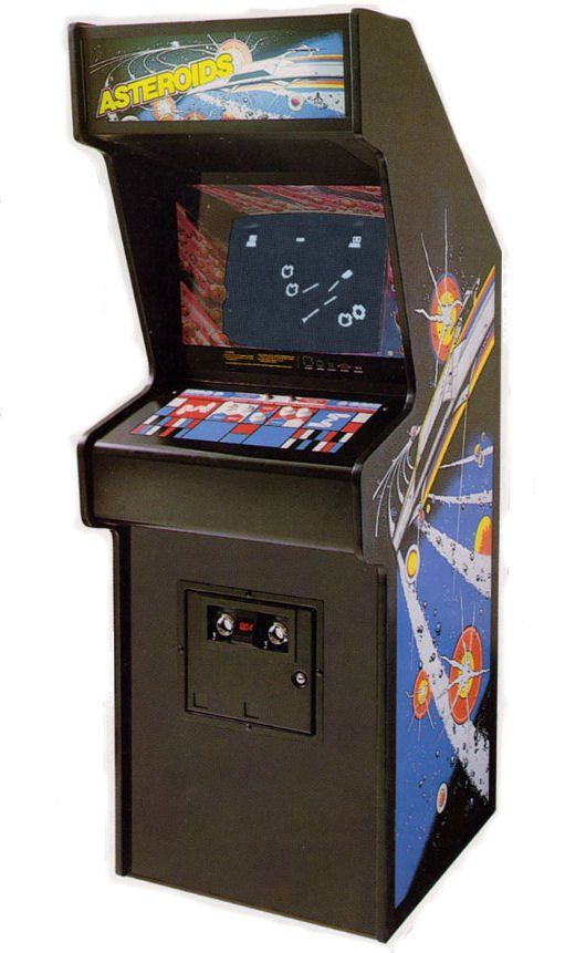 Asteroids Arcade Machine; this was my favorite arcade game as a teen. We used to play it in the mornings at the donut shop on the way to school. This, and Pac-Man were the coolest shit in those days.