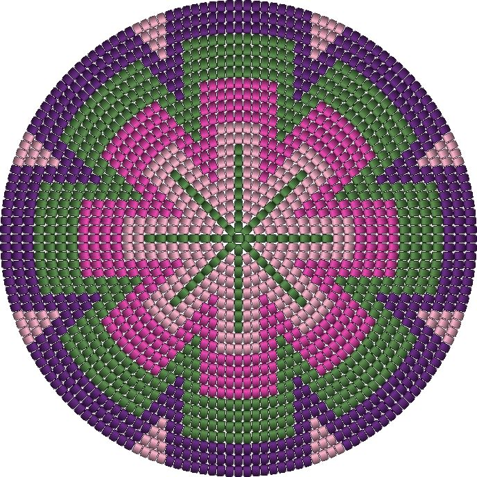 Tapestry crochet pattern. Bottom mochila bag or basket 20 rows #Crochet #Pattern #Tapestry #Mochila #Bag #Basket