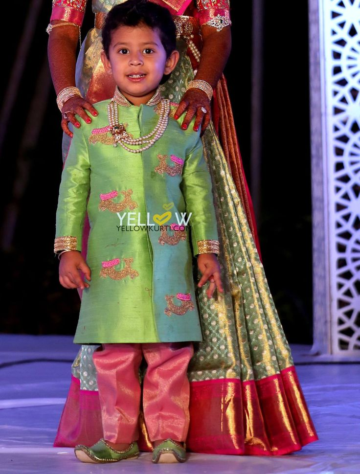 Customised Rawsilk Kurta and dhoti set with embroidered scooters . Doable for any age group.Kindly write to us at teamyellow@yellowkurti.com 27 June 2017