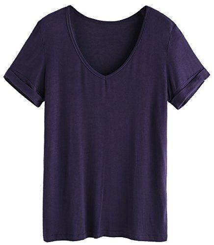 SheIn Women's Summer Short Sleeve Loose Casual Tee T-shirt – Navy# XX-Large  Special Offer: $12.99  366 Reviews Size Chart Length : XS 64cm/25.2″,S 65cm/25.6″, M 66cm/26.0″, L 67cm/26.4″, XL 68cm/26.8″ ,XXL 69cm/27.2″ Bust : XS...