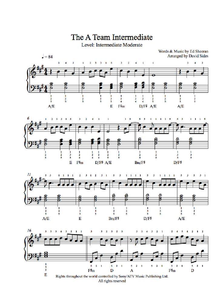ed sheeran sheet music pdf