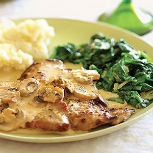 Veal Scaloppine with Mushroom Marsala Sauce | MyRecipes.com