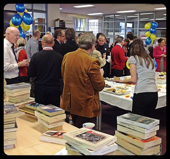 The Biggest Morning Tea - hosted by the library. a collaboration b/w the library staff and teachers running the event. Great opportunity to socialise with staff over a yummy morning tea, and provide book seller for teachers.