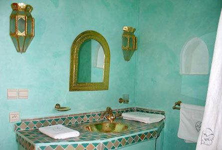 Moroccan Bathroom In Turquoise Inspiration Pinterest Decorating Ideas Turquoise And Interiors
