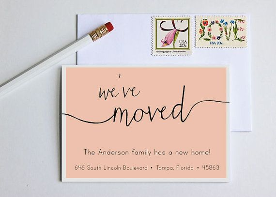 Moving Announcement - Change of Address - New Home - Housewarming Invitation on Etsy, $30.00