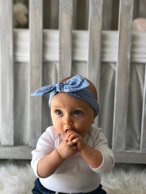 HEADBAND SLIM WITH BOW 'MINI DOTTY'    #MamaFashionMe - Aussie Online Store with Beautiful Accessories for Girls + Some for Boys