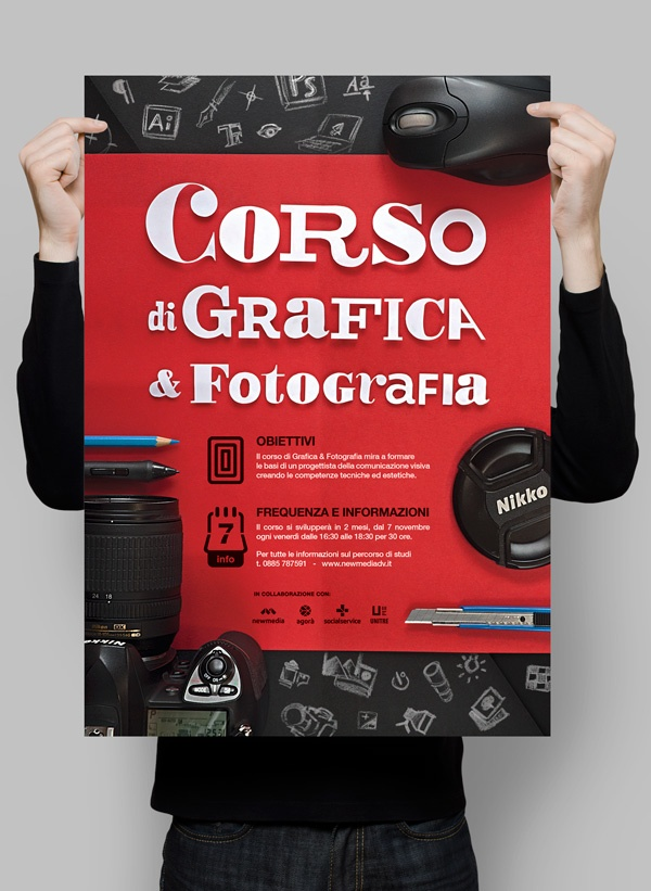 Graphic design & Photography course Poster - by Antonio Cappucci