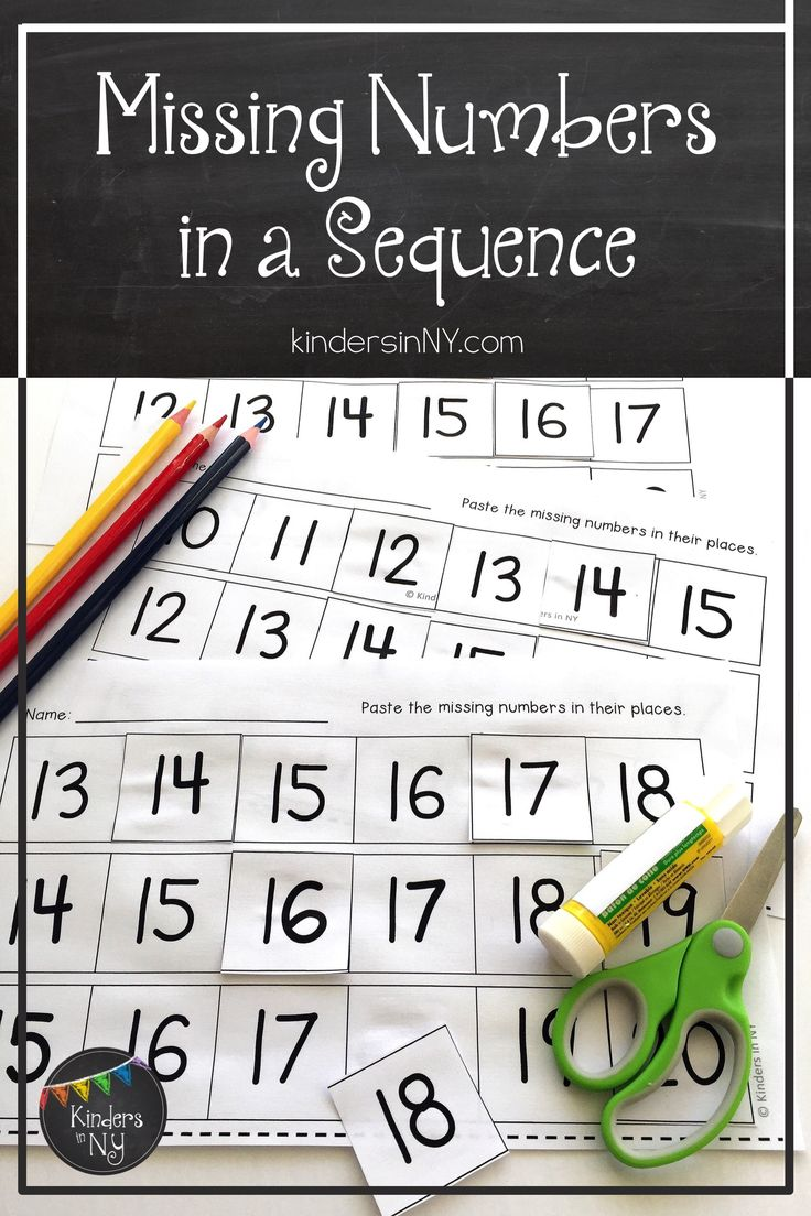 This no frills set is easy to read and easy to work with. The set includes six worksheets that require students to find the missing number in a sequence of six numbers. Students cut out the numbers along the bottom of the page and glue them into their correct places. Great for morning work, math centers, assessment, or homework. ~3 worksheets with numbers 1-10 ~3 worksheets with numbers 10-20