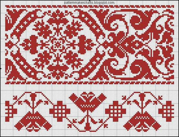 Knitting Stitch Embroidery Patterns : 83 best Red images on Pinterest Cross stitch patterns, Cross stitch borders...