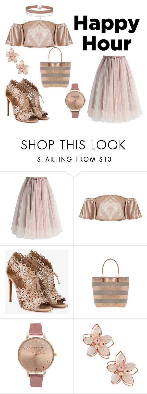 """#happyhour"" by hajer-bh ❤ liked on Polyvore featuring Chicwish, Alaïa, Olivia Burton, NAKAMOL and Miss Selfridge"