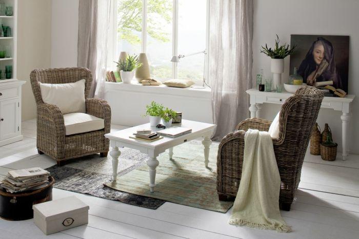 Möbel aus Polyrattan sessel landhaus