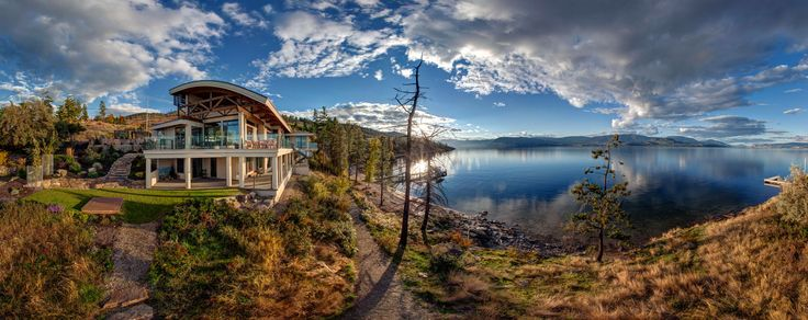 Home On The Lake In Kelowna Bc Future Home Ideas Pinterest Pool Houses Mountains And