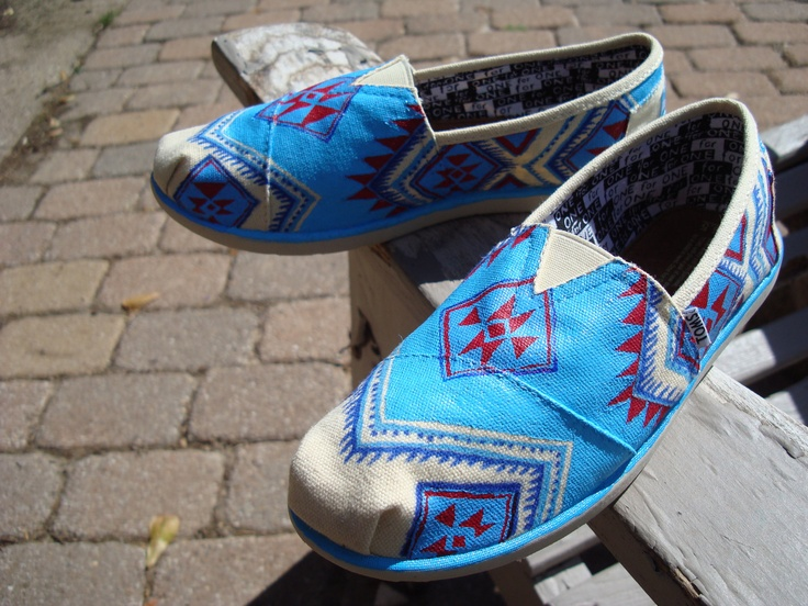 south western-tribal-hand painted on TOMS